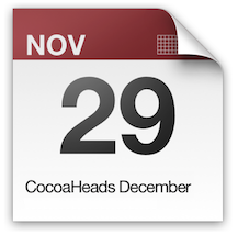 CocoaHeads December is on November 29th